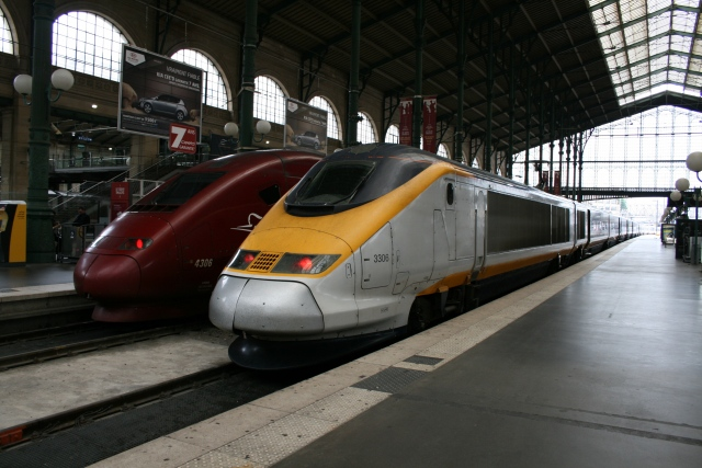Eurostar and Thalys at Paris Gare du Nord (2008)