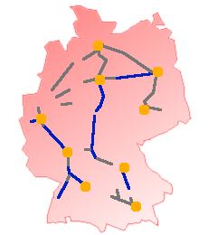 German High Speed Rail Network